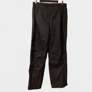 MEC Black Nylon Shell Rain/Outdoors Pants XL